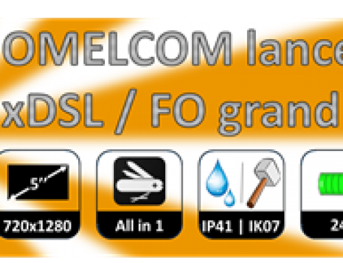New xDSL and optic fiber tester by OMELCOM