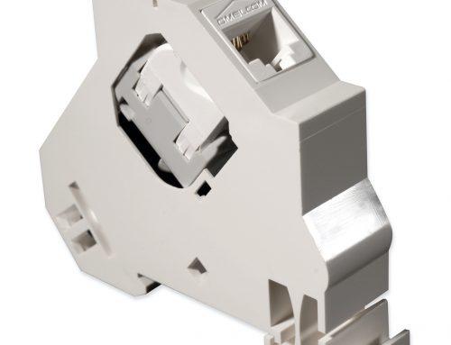 Keystone format RJ45 connector mounting brackets